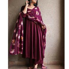 designerprettywears on March 31 2020 1 person closeup Casual Indian Fashion, Indian Fashion Dresses, Pakistani Dresses Casual, Indian Gowns Dresses, Dress Indian Style, Indian Designer Outfits, Stylish Dress Designs, Designs For Dresses, Stylish Dresses