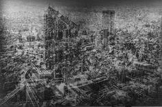 Netropolis - Tokyo, Lightjet-print, 120 x 180 cm, 47 x 70 Multiple Exposure Photography, Hybrid Art, Old Lights, Art Plastique, Photo Manipulation, City Photo, Tokyo, Skyline, Fine Art