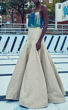 Mermaid Mesh Cami by ROSIE ASSOULIN for Preorder on Moda Operandi