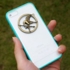 The Hunger Games iPhone Case - Mockingjay Charm Pendant Inspired Sumsung Galaxy Case