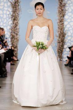 oscar de la renta wedding dresses 2014 bridal strapless sweetheart gown