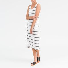 The best summer dress  The Maxi Tank in white stripe available online and in store now.