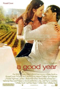love movie A Good Year - 2006 - Russel Crowe, Marion Cotillard The Sweetest Thing Movie, Love Movie, Romantic Films, Most Romantic, King's Speech, I Love Cinema, Russell Crowe, Ridley Scott, Romance Movies
