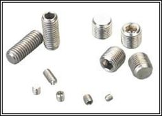 hex socket head set screw with ball/flat point in hardware