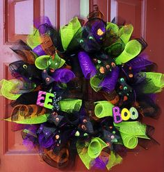 Disney Haunted Mansion EYES Inspired Deco Mesh Wreath by Welcome Home Wreath, $50.00