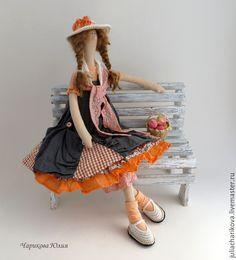 Купить ОХОТНИК (оранжевый) - оранжевый, тильда, тильда кукла, бохо, бохо-стиль, ручная работа