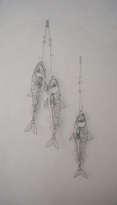 maquereaux-Saw. 3d Zeichenstift, Wire Art Sculpture, Wire Sculptures, Sculptures Sur Fil, Stylo 3d, Art Fil, Metal Art Projects, A Level Art, Wire Crafts
