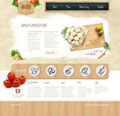 Strona dla firmy produkującej żywność