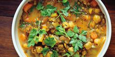 A Muslim staple to break the daily fast of Ramadan, this soup has crossed over to the Moroccan Jewish tradition of breaking the fast of Yom Kippur. Although many cooks make this with meat, I have turned it into a vegetarian version and make it whenever I can.