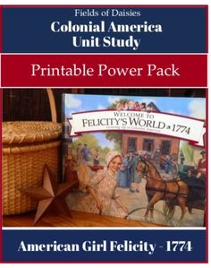Colonial America Printables for American Girl Felicity Unit Study- Study Colonial American History the fun way! Complete daily plans, hands-on projects, gam Study History, History Education, Teaching History, History Books, History Class, Women's History, History Photos, British History, History Facts