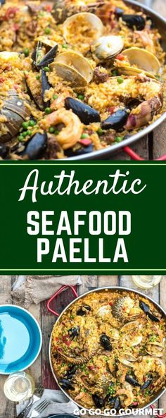 This easy Seafood Paella recipe has authentic Spanish flavor with lobster and lots of other delicious seafood! This traditional dish is also made with chorizo for a complete meal. Seafood Paella- Be Best Paella Recipe, Easy Seafood Paella Recipe, Paella Party, Vegan Quesadilla, Seafood Recipes, Mexican Food Recipes, Cooking Recipes, Fish Recipes, Gourmet