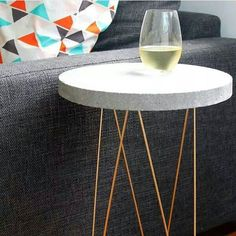 SALE Raw Side Table'