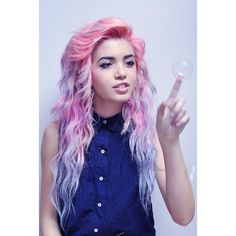 cute hair colors ❤ liked on Polyvore featuring hair, people, hairstyles, girls and hair styles