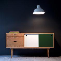Sideboard - Eiche/Grau/Grün von Kann Design