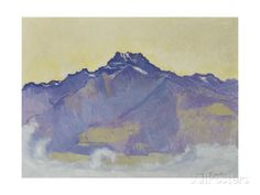 The Dents Du Midi, Viewed from Chesieres, 1912 Giclee Print