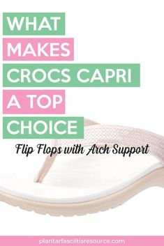 The Crocs Capri are one of the highest rated flip flops with arch support. This also makes them great for those ladies suffering from plantar fasciitis. Best Workout Shoes, Workout At Work, Best Walking Sandals, Walking Shoes, Plantar Fasciitis Massage, Foot Exercises, Best Flip Flops, Best Slippers, Treadmill Workouts