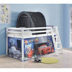 Tent for Midsleeper Cabin Bed & Worldu0027s Apart Cabin Bed Tent Pack - Disney Cars | Mid sleeper ...