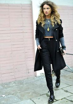 "8993365db66 what-do-i-wear  ""shoes DeeZee   pants Romwe   coat TopShop   cap LONG  BoyLONDON   sweater h m   jewellery Parfois"