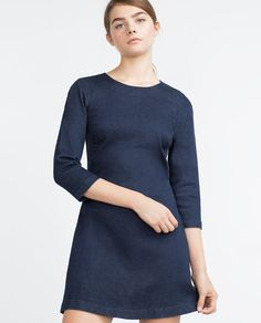 Image 2 of DENIM DRESS from Zara