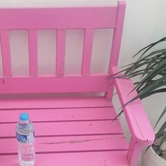 Pretty in pink. Santorini theme park in Thailand. Outdoor Chairs, Outdoor Furniture, Outdoor Decor, Santorini, Pretty In Pink, Thailand, Park, Travel, Home Decor