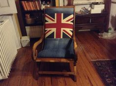 Old armchair, british style and recycled denim Recycled Denim, British Style, Armchair, Recycling, Furniture, Home Decor, Sofa Chair, Decoration Home, Room Decor