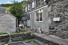 Before - 2010 The rear area as was.  Pen y Pigyn in the back ground.