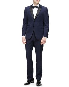 Wool Tuxedo, Navy by Burberry London at Neiman Marcus.