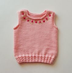 Ready to ship Size Month baby girl vest with roses knitted girl vest pink vest for girl merino vest MADE TO ORDER – Knitting Baby Knitting Patterns, Knitting Socks, Hand Knitting, Baby Girl Vest, Knit In The Round, Vest Pattern, Knit Vest, Baby Cardigan, Baby Sweaters