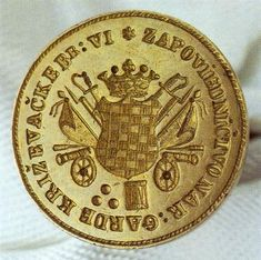 Seal of the Command of the Krizevci Home Guard, 1848/49  photo from Croatian History Museum
