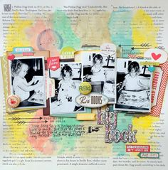 My Scraps & More DT Project - June Challenge - Altering Alpha Stickers - October Afternoon Public Library collection.