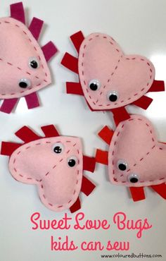 A simple to sew Love Bug your kids will love to make.