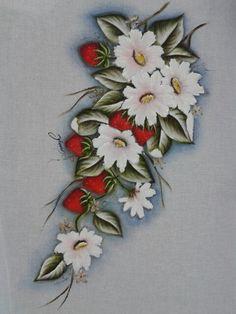 Flores e morangos