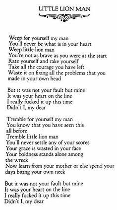 Lyrics for little lion man