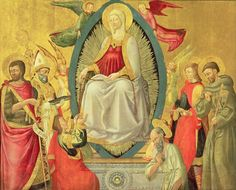 Ascension Of The Virgin, 1465 Painting by Neri di Bicci