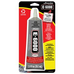 E-6000 Glue - for those glass projects I keep seeing on pinterest. B