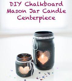 Lovely Chalkboard Painted Mason Jars | DIY Cozy Home