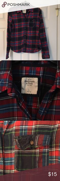 Abercrombie & Fitch Flannel, size L. Abercrombie & Fitch Flannel, size L. Good preowned condition. No stains or rips. Could use a quick iron 😊 Abercrombie & Fitch Tops Button Down Shirts