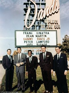 Rat Pack Frank Sinatra Dean Martin Sammy Davis Jr. Peter Lawford Joey Bishop