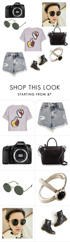 """""""Untitled #148"""" by hollicakes ❤ liked on Polyvore featuring Fendi, River Island, Eos, Moda Luxe, Le Specs, TomTom and Dr. Martens"""