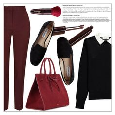 """""""Casual Elegance"""" by a-mariam ❤ liked on Polyvore featuring Essentiel, Mansur Gavriel, Guerlain and Steve Madden"""