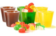 Gummy shot glasses.  Awesome :P