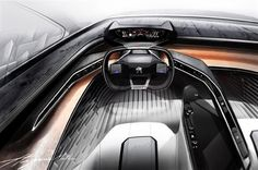 3ders.org - Peugeot Fractal concept car, packed with 3D printed interior, to debut at Frankfurt Auto Show | 3D Printer News & 3D Printing News