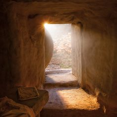 Easter: A picture, they say, is worth a thousand words Jesus Tomb, Christian Artwork, Christian Pictures, La Passion Du Christ, Jesus Drawings, Spiritual Pictures, Empty Tomb, Jesus Is Alive, Christian Wallpaper