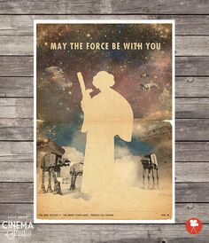 Star Wars Poster Princess Leia Organa Movie Poster by CinemaStudio @Etsy