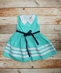 Look at this #zulilyfind! Bahama Blue Stripe Jane Dress - Infant, Toddler & Girls by Cheeky Plum #zulilyfinds