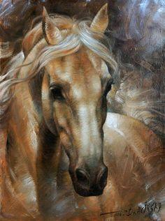 Palomino Horse Paintings, Animal Paintings, Resin Paintings, Horse Artwork, Horse Drawings, Horse Head Drawing, Art Drawings, Horse Pictures, Art Pictures