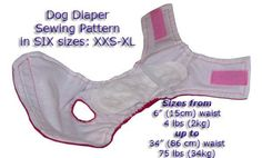 (9) Name: 'Sewing : Dog Diaper Pattern Sizes XXS-XS-S-M-L-XL
