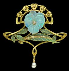 Art Nouveau, Belle Epoque, and Edwardian Jewelry ~ brooch