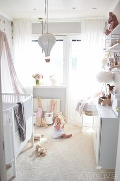 e m i l y s l i v airy scandinavian style nursery for baby girl #bunnyinthewindow