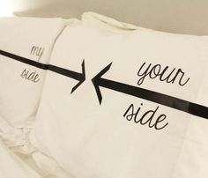 My Side Your Side Pillow Cases